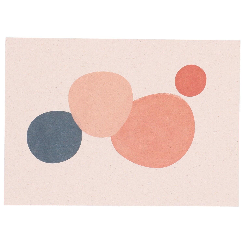 Dille&Kamille Carte, papier végétal, pastilles de couleur, 14,8 x 10,5 cm