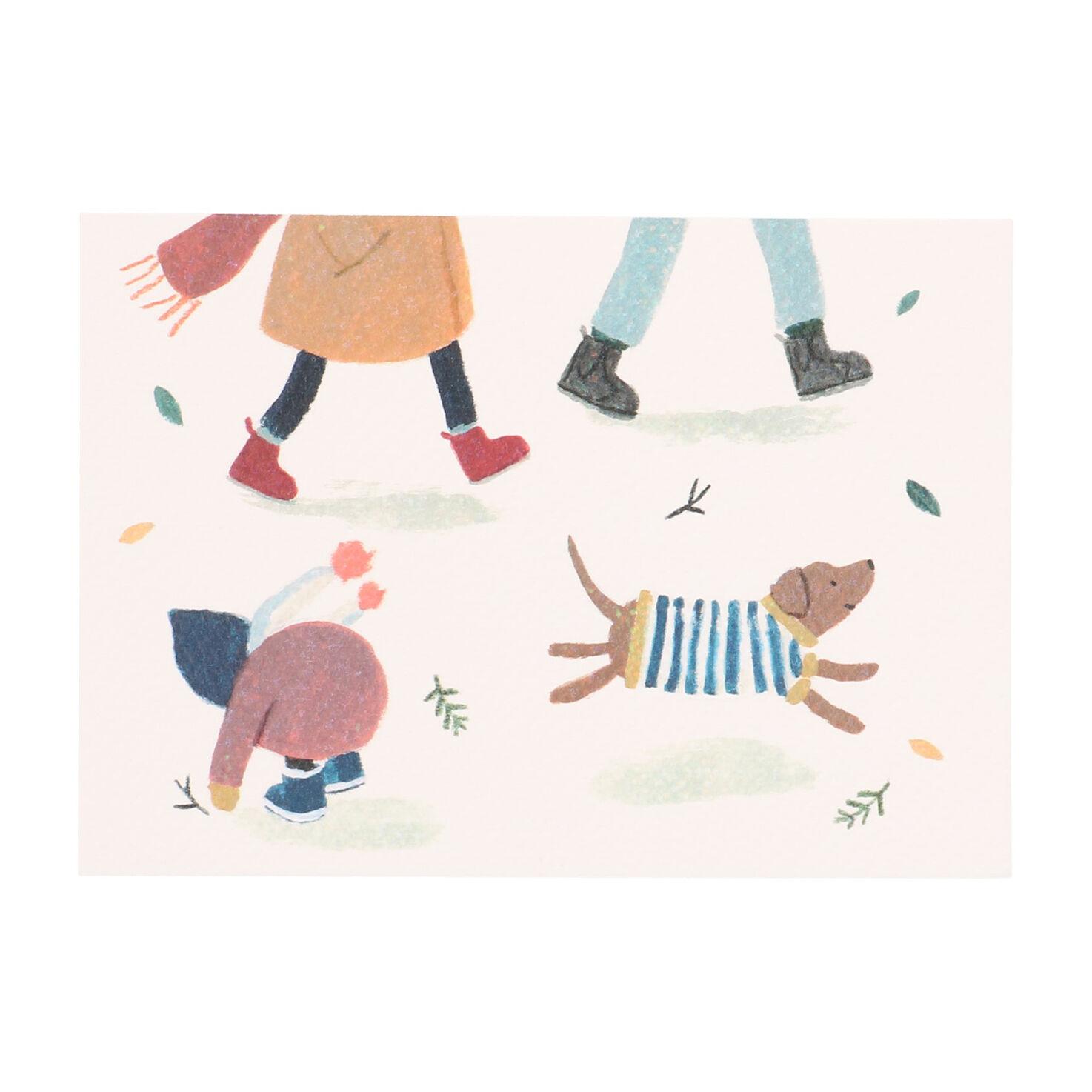 Dille&Kamille Carte, promenade avec chien et enfant