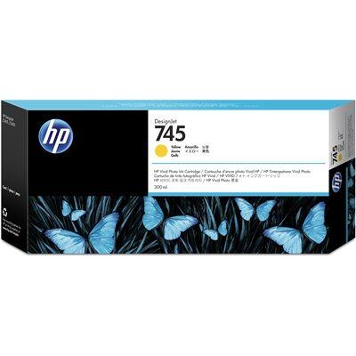 Hewlett Packard Cartouche d'encre DesignJet HP 745 jaune, 300 ml