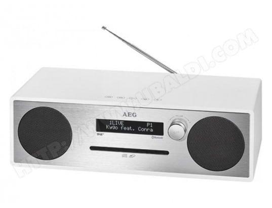 AEG Centre de musique stéréo AEG MC 4469 avec Bluetooth/DAB+ Blanc