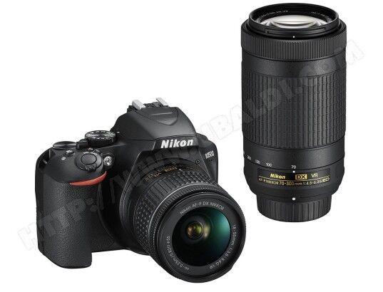 NIKON Appareil photo numérique reflex D3500 AFP DX 18-55VR + DX 70-300 f/4.5-6.3G EDVR