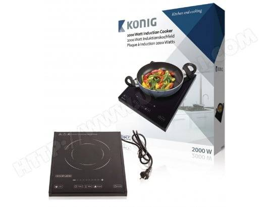 KONIG Plaque à induction 2000 W Noir
