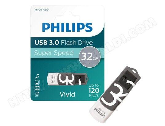 PHILIPS Clé USB PHILIPS CLE VIVID 32GO 3.0 GRY