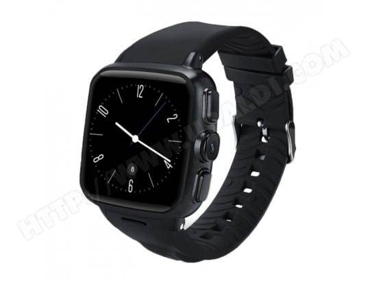YONIS Montre Connectée Android 5.1 3G 2G 8GB + 512 MB Écran Tactile Capacitif GPS Dual Core 1.2 GHz Bracelet Noir