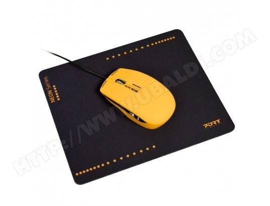 PORT DESIGNS PORT DESIGN MOUSE NEON WIRED + MOUSEPAD MOUSE NEON WIRED + MOUSEPAD ORANGE