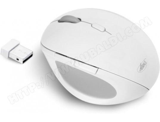 ADVANCE Souris sans fil Advance Vertical 6D (Blanc)