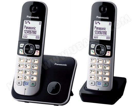 PANASONIC Téléphone sans fil KX-TG6812FRB Duo noir