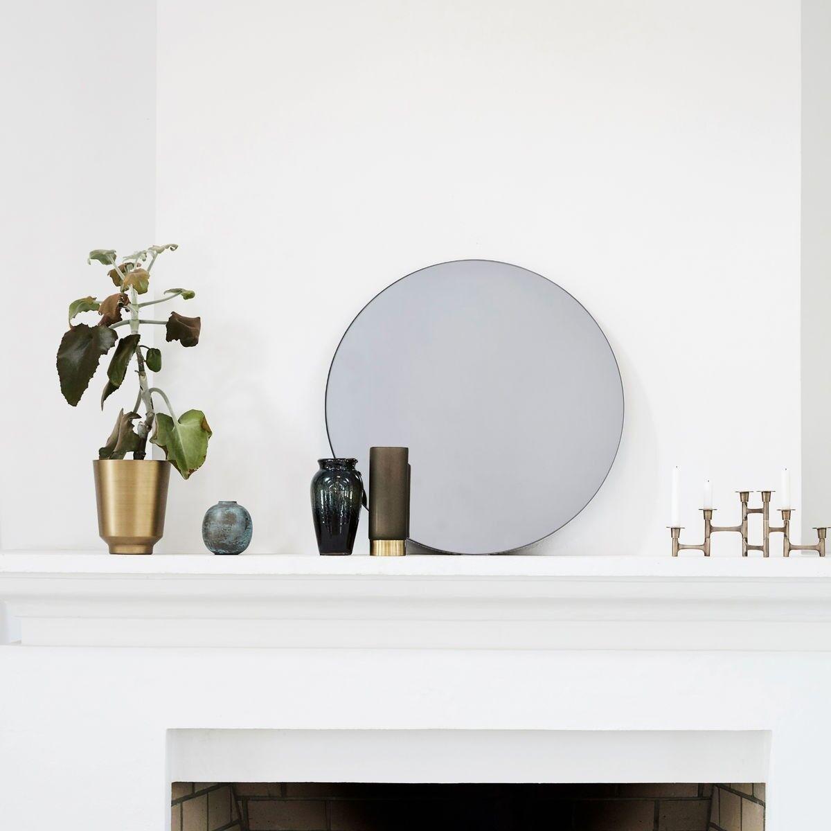 HOUSE DOCTOR Miroir rond vintage gris BOIS DESSUS BOIS DESSOUS