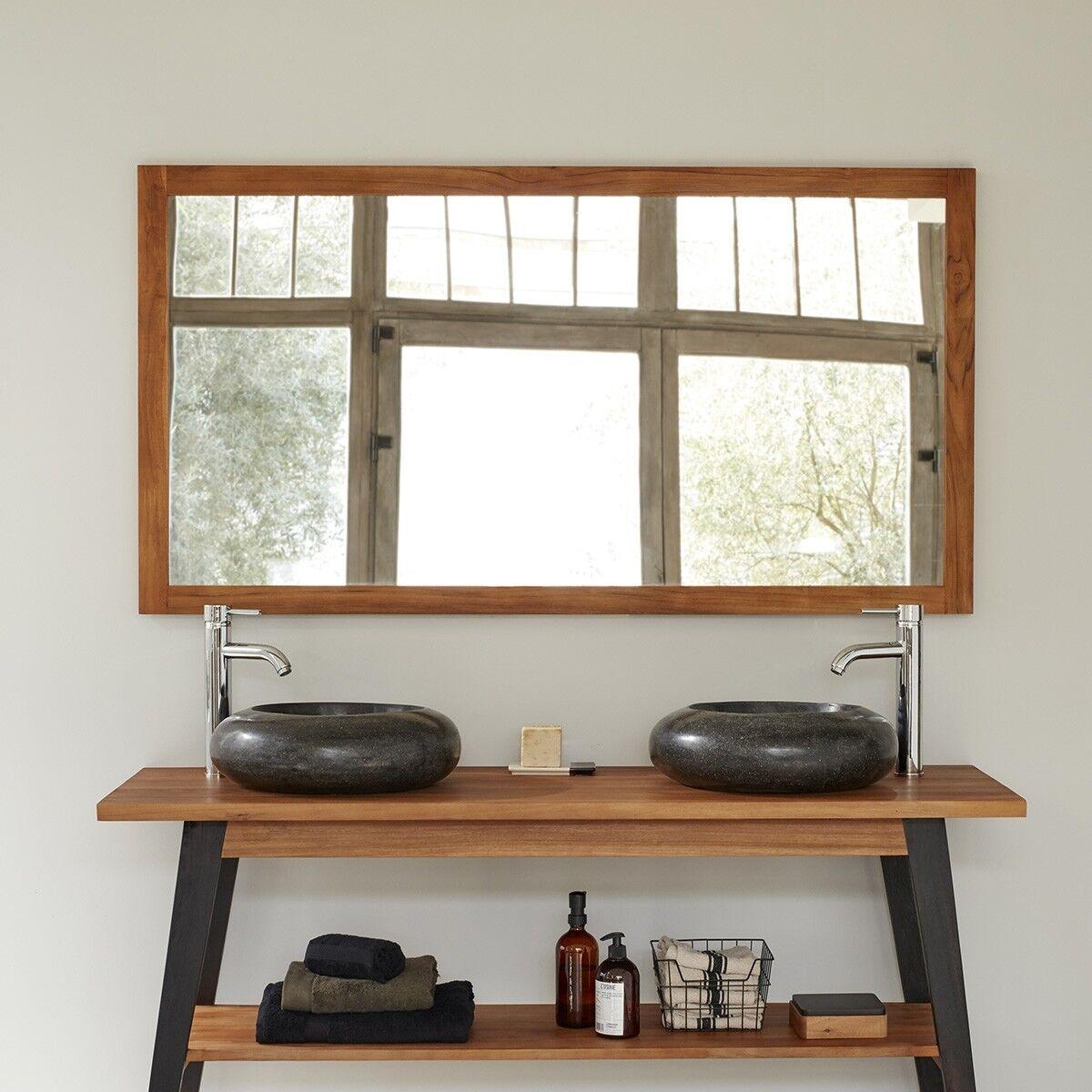 BOIS DESSUS BOIS DESSOUS Miroir en bois de teck 150 cm BOIS DESSUS BOIS DESSOUS