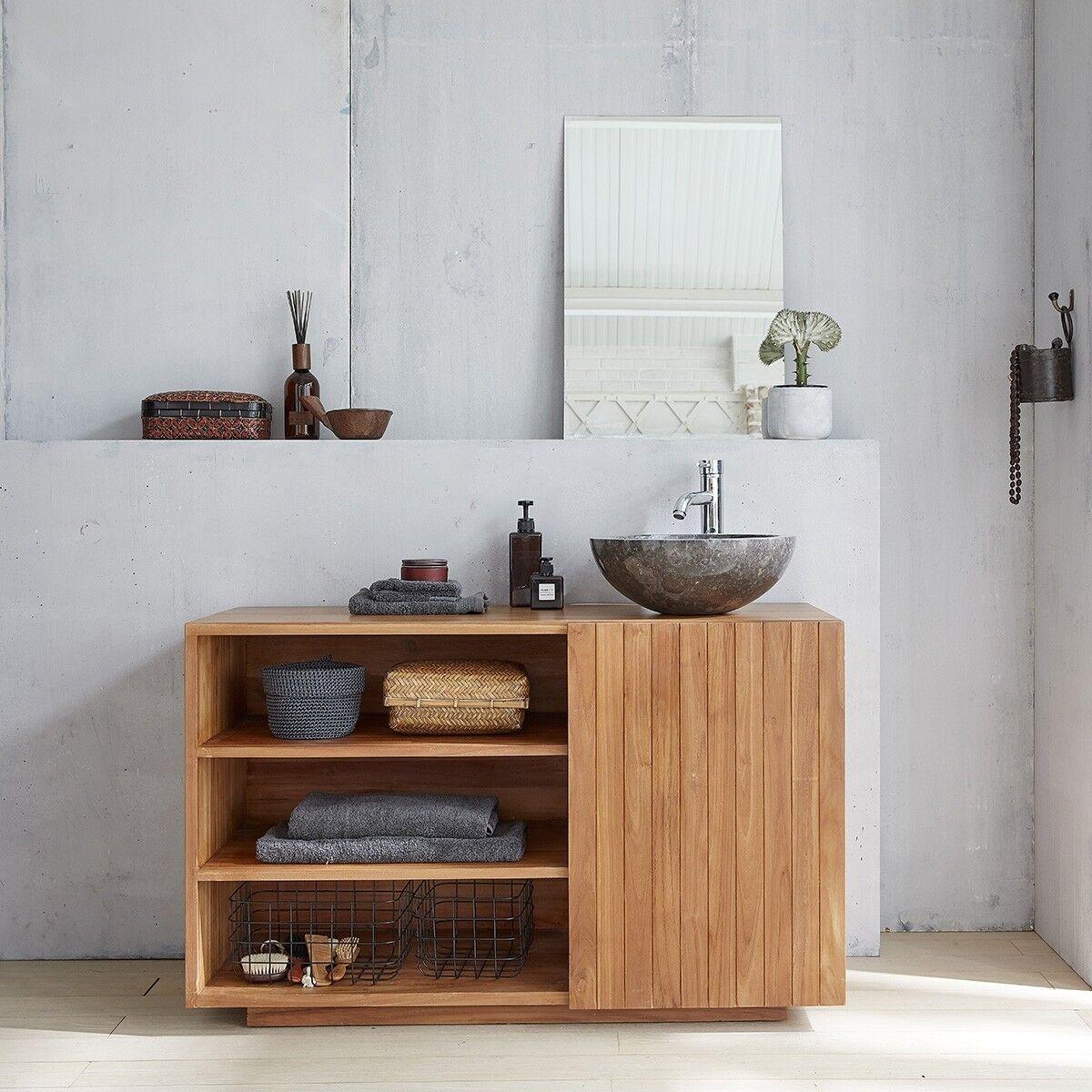 BOIS DESSUS BOIS DESSOUS Meuble de salle de bain en bois de teck 120 BOIS DESSUS BOIS DESSOUS