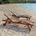 BOIS DESSUS BOIS DESSOUS Bain de soleil en bois teck huilé (lot de 2)... par LeGuide.com Publicité