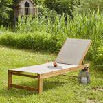 BOIS DESSUS BOIS DESSOUS Bain de soleil en bois d'acacia FSC et... par LeGuide.com Publicité