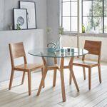 BOIS DESSUS BOIS DESSOUS Table ronde en bois de teck vitrée 4 couverts... par LeGuide.com Publicité