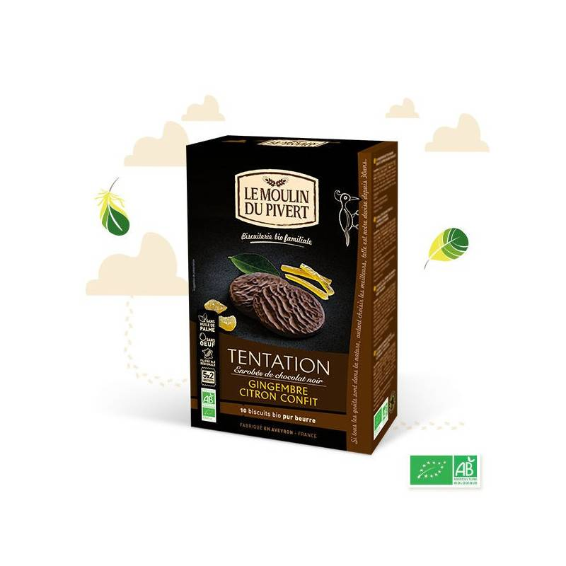 Moulin du Pivert Biscuits tentation citron gingembre - 130g
