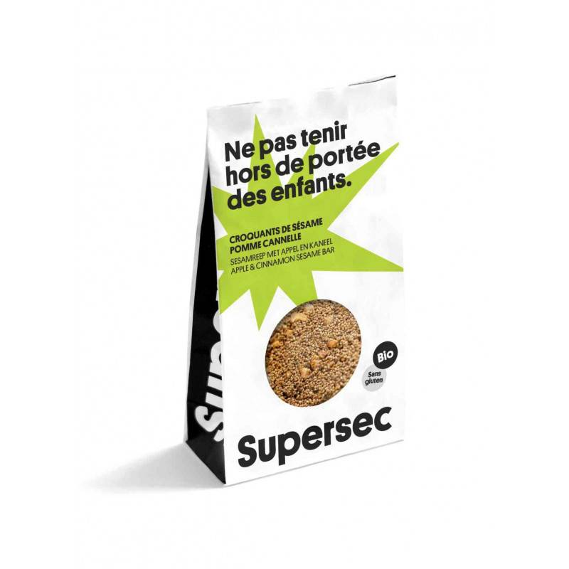 Supersec Croquants de sésame pomme cannelle - 110g