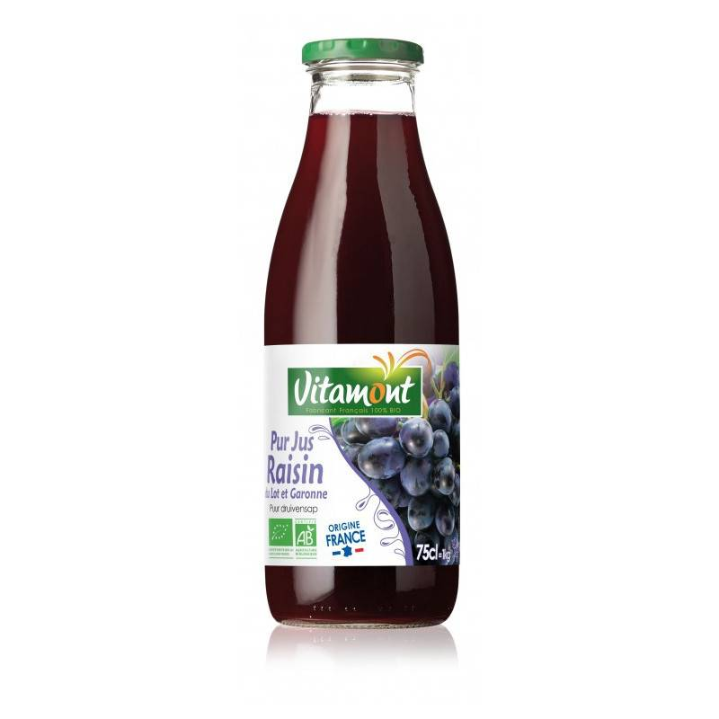 Vitamont Pur jus de raisin rouge - 75cl