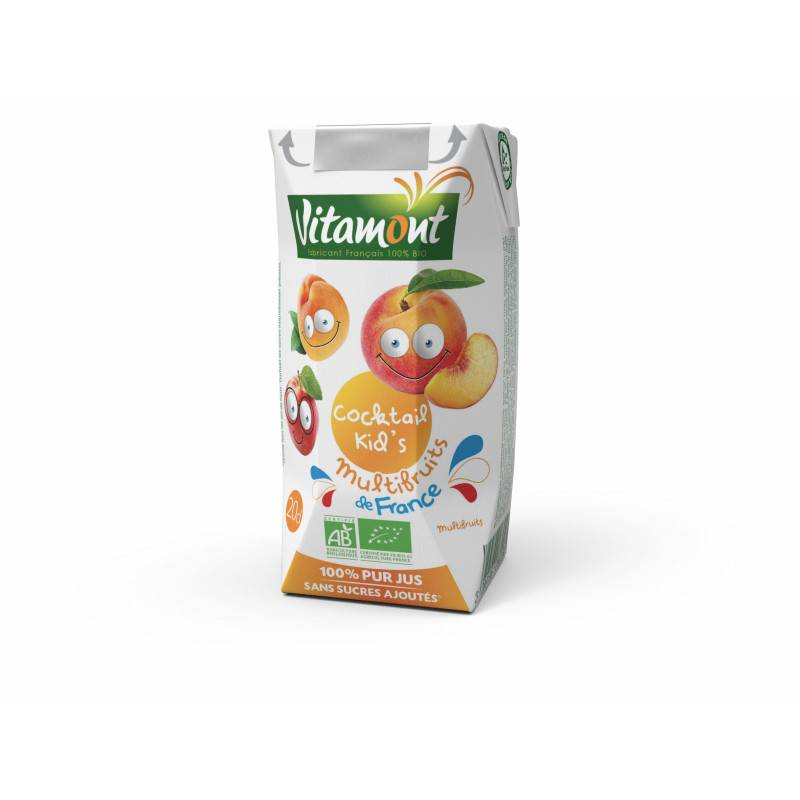 Vitamont Jus cocktail kids multifruits de France briquette - 20cl