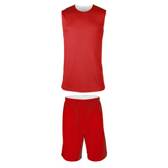 ProAct Ensemble Basketball Réversible Junior - Rouge & Blanc
