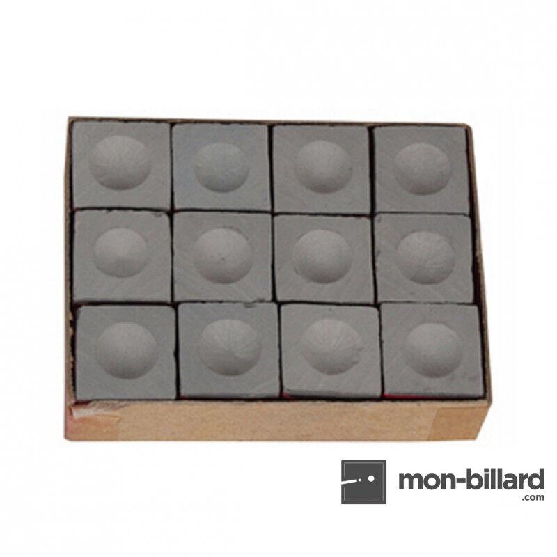 Master Billard Boite de 12 craies Master grises