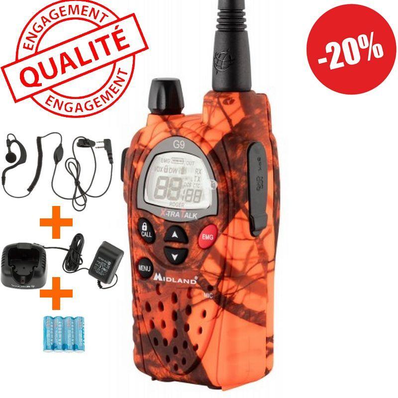 Talkie-walkie g9 blaze professionnel midland