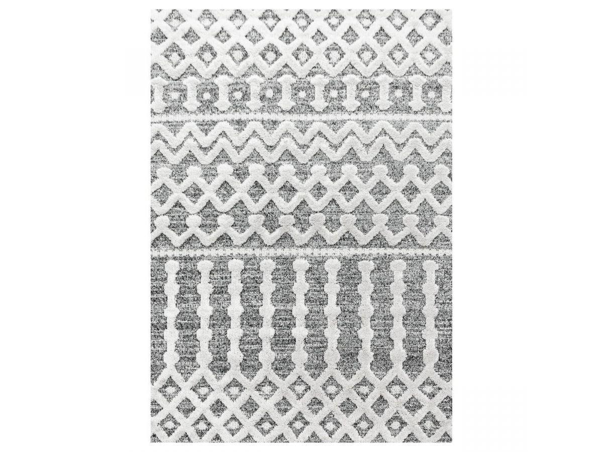 BOBOCHIC Tapis poils courts MAROC motif berbère Gris 60x110