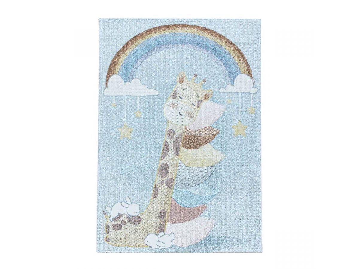 BOBOCHIC Tapis enfant CLOUDY 1 Bleu 120x170