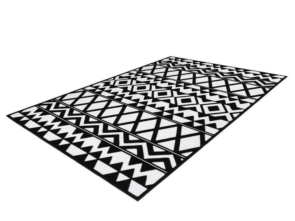 BOBOCHIC Tapis SAFI Noir / Blanc 80cm x 150cm