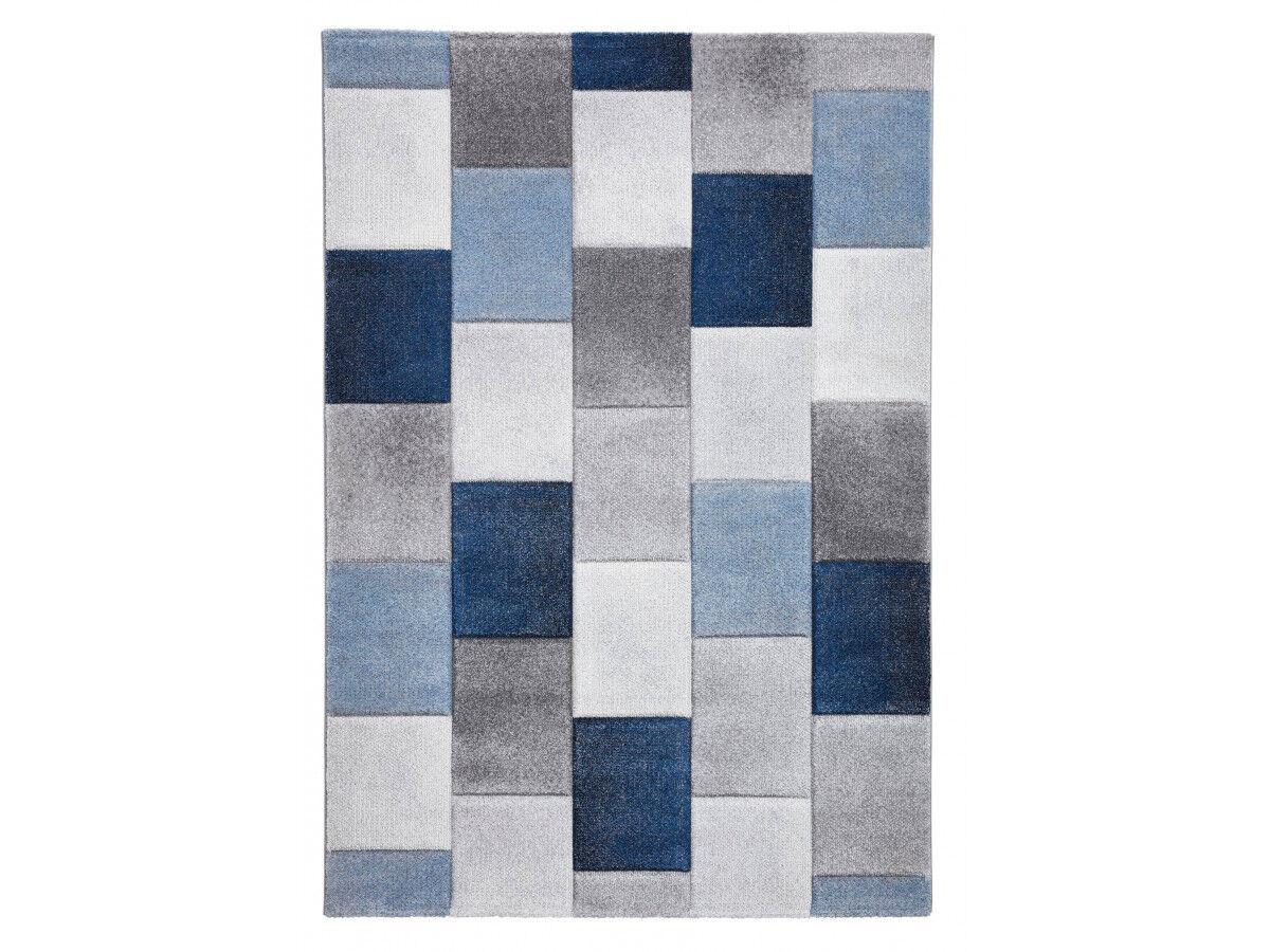 BOBOCHIC Tapis LONDON - Gris / Bleu 200 x290