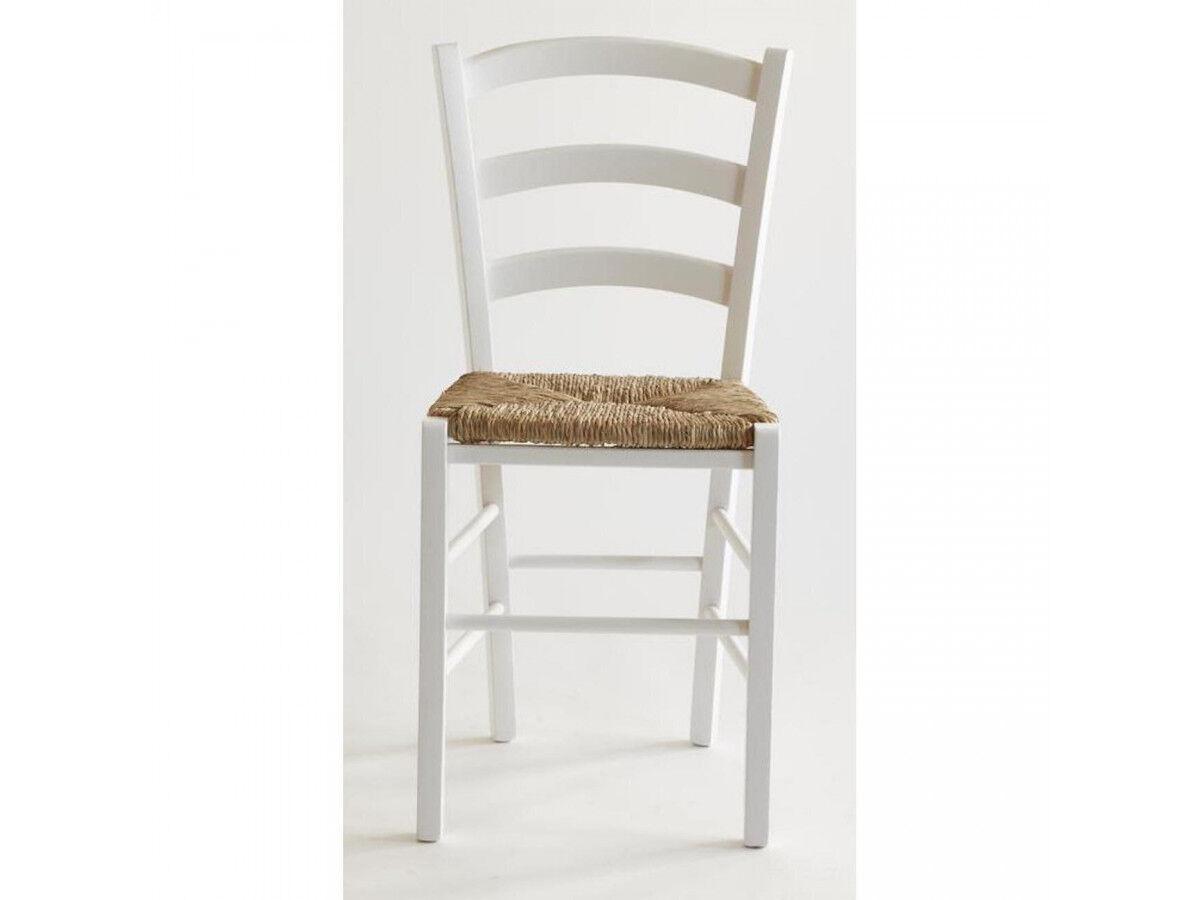 BOBOCHIC Lot de 2 chaises en bois naturel PAYSANNE Blanc