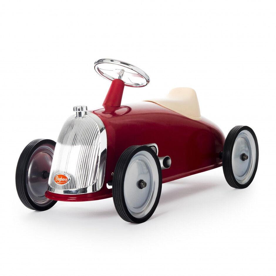 Baghera Porteur Rider vintage en métal pour bébé ROUGE Baghera