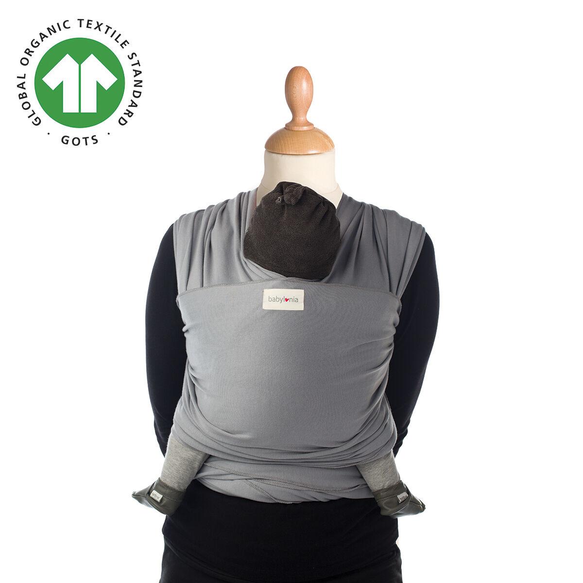 Babylonia Baby Carriers Écharpe de portage extensible en coton biologique Tricot-Slen Organic GRIS Babylonia Baby Carriers