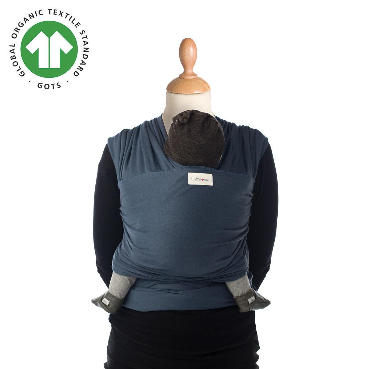 Babylonia Baby Carriers Écharpe de portage extensible en coton biologique Tricot-Slen Organic BLEU Babylonia Baby Carriers