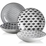 Vancasso HARUKA 4pcs Assiettes Creuse Porcelaine Ronde 21.5*21.5*4.5cm... par LeGuide.com Publicité