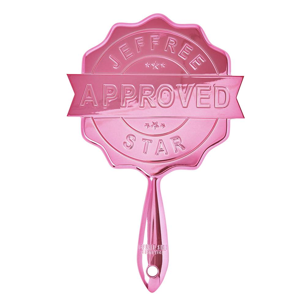 Jeffree Star Cosmetics Baby Pink Chrome Approved Stamp Mirror