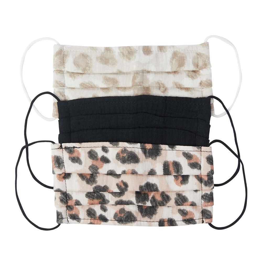 Kitsch Cotton Face Mask Set Leopard