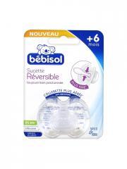 Bébisol Sucette Réversible Silicone +6 Mois SR22 - Blister 1 sucette