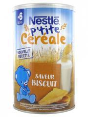 Nestlé P'tite Céréale 6 Mois et + Saveur Biscuit 400 g - Boîte 400 g