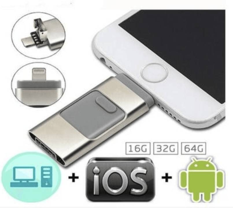 Cle USB pour smartphone - Compatible IOS & Android Or 16GB