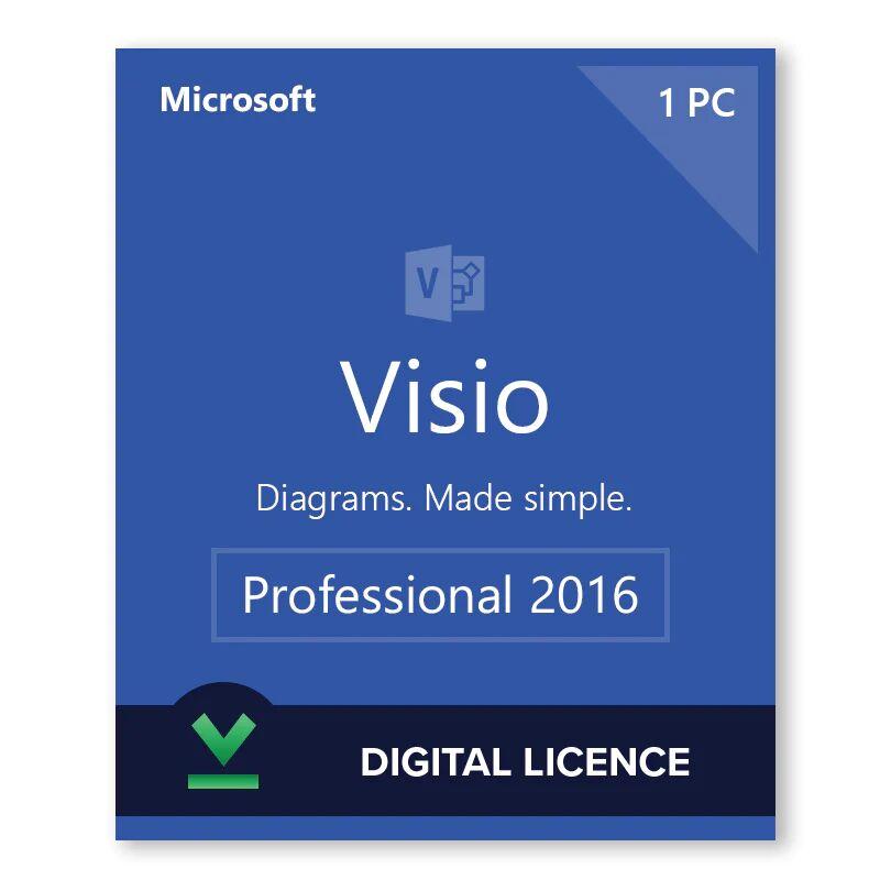 Microsoft Visio 2016 Professionnel - Licence numérique - Logiciel en téléchargement