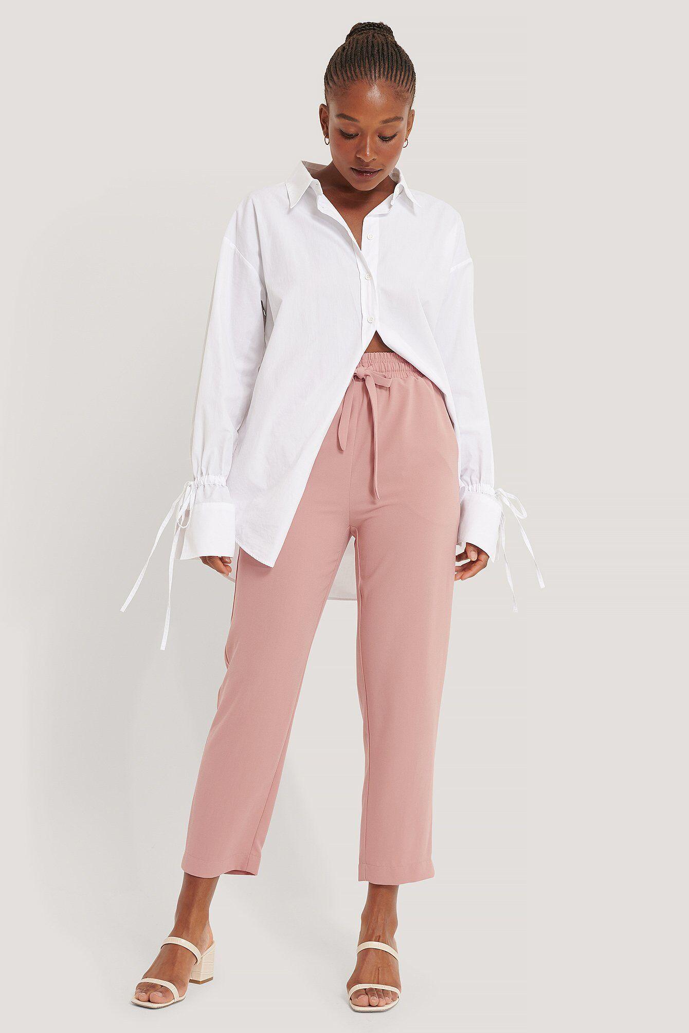 NA-KD Pantalon Décontracté À Cordon De Serrage - Pink