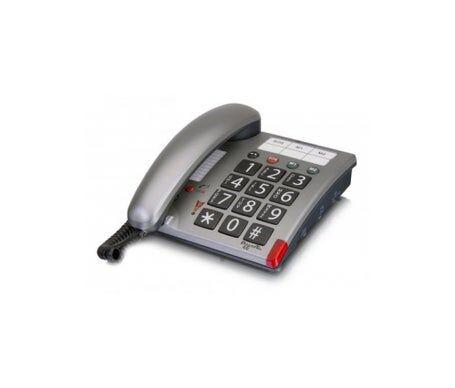 Amplicomms téléphone de bureau Power Tel 46 argent