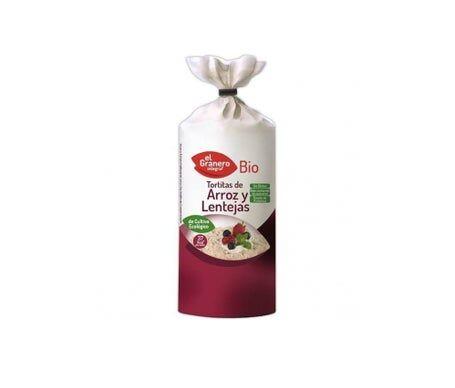 EL GRANERO Granero Alimentacion Tortitas Riz Lentilles de Riz Bio 115g