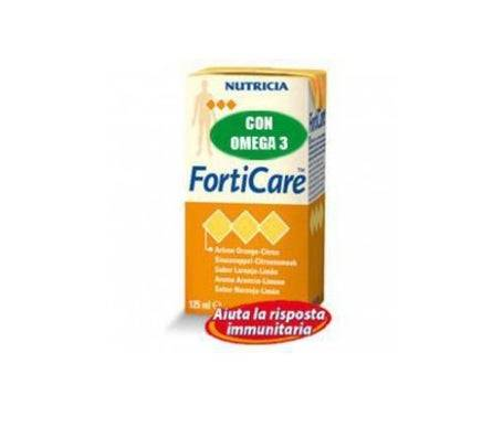 Nutricia Pêche Forticare/Gingembre 4X125Ml