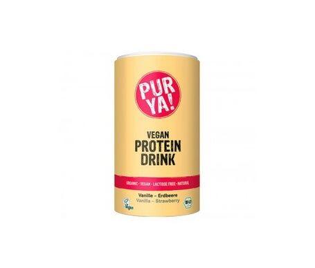 Purya Poudre de protéines végétales biologiques avec vanille et fraise 550g