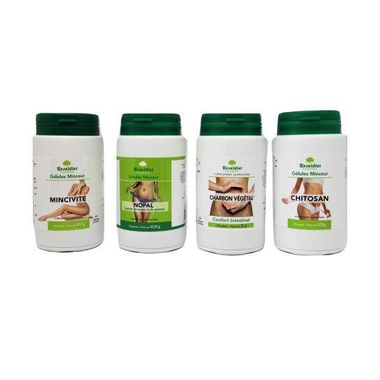 Exceldiet Pharma Pack Cure Détox et Perte de Poids 4x120 Gélules