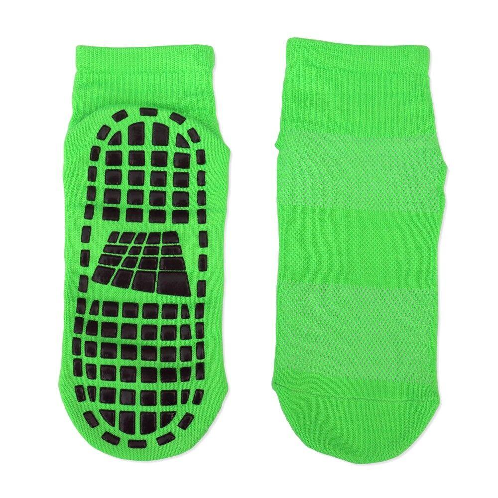France Trampoline Chaussettes antidérapantes - m - pointure 35/37 - (chaussettes vertes avec picots noirs)