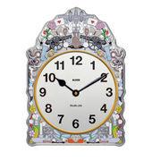 Alessi Horloge murale Comtoise / L 23 x H 30 cm - Alessi multicolore en métal