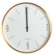 House Doctor Horloge murale Clock Couture / Ø 30 cm - House Doctor or en métal