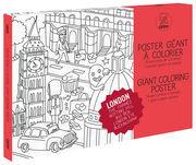 OMY Design & Play Poster à colorier Londres / 100 x 70 cm - OMY Design & Play blanc,noir en papier