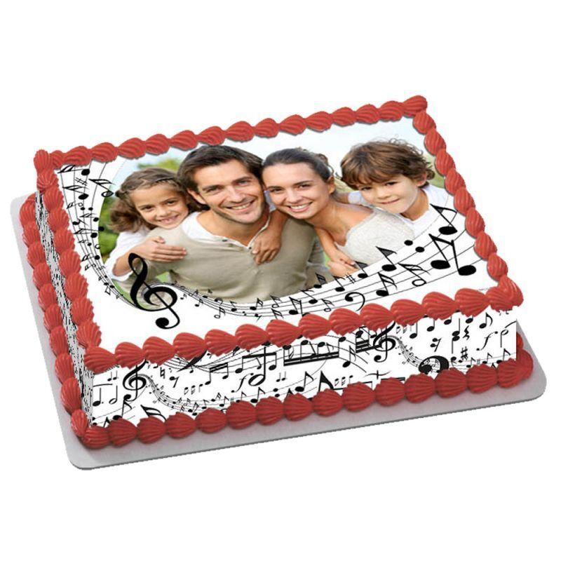 Themadeco Kit Easycake pour gâteau personnalisé Musique